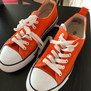 Shoes - Orange converse look alike